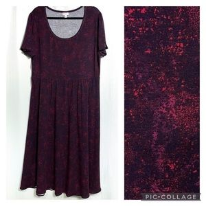 LuLaRoe Riley Midi Dress- Hemmed Size 3XL
